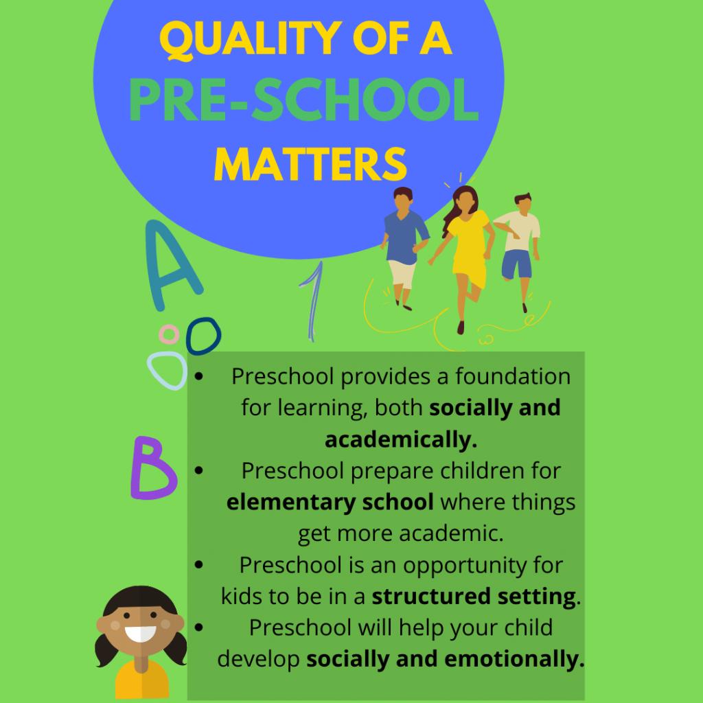 pre school benefits