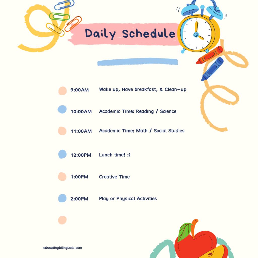 horario diario