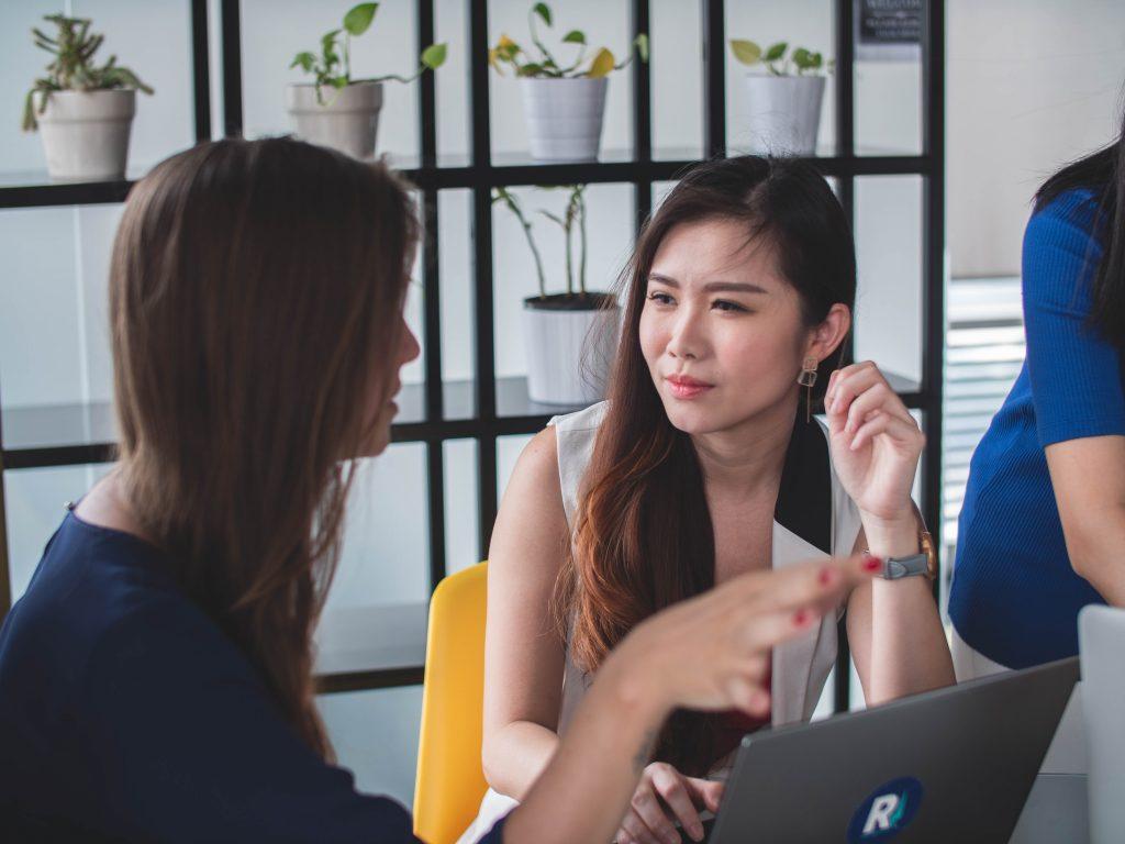 two teachers communicate