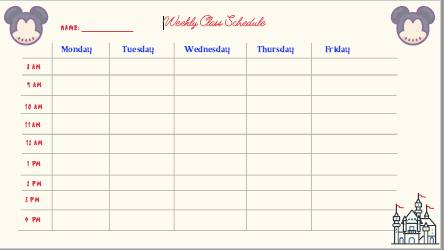 remote learning schedule template - disney