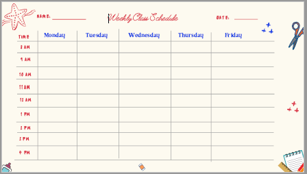 remote learning schedule template