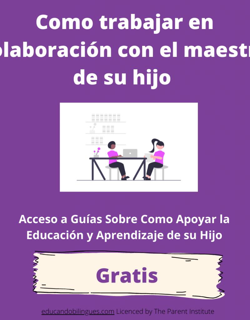 colaborar con maestros