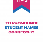 how to pronounce student names