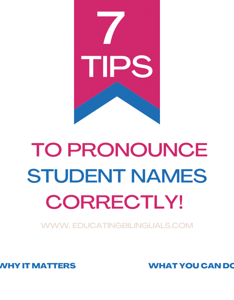 pronounce student names