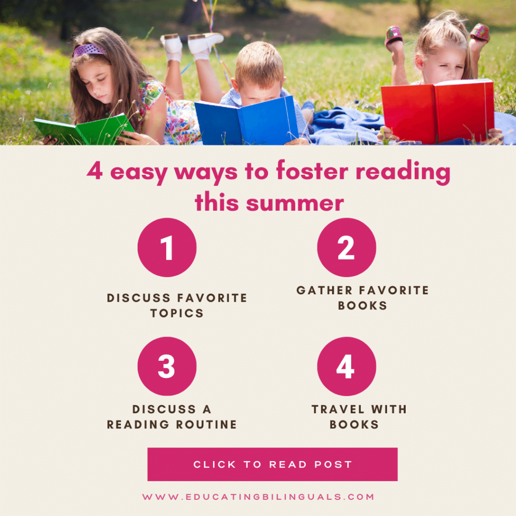 ways to foster reading in the summer